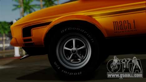 Ford Mustang Mach 1 429 Cobra Jet 1971 HQLM for GTA San Andreas back left view