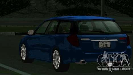 Subaru Legacy Touring Wagon 2003 for GTA San Andreas right view