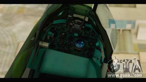 Mikoyan-Gurevich MIG-21UM Vietnam Air Force v2.0 for GTA San Andreas back view