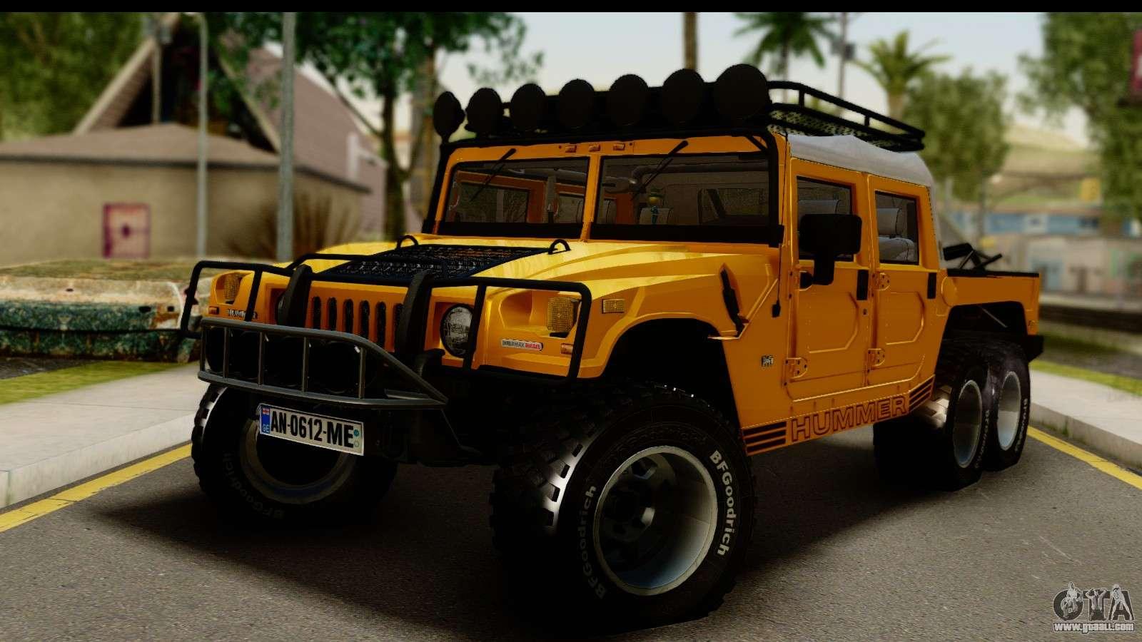 Hummer H1 6-Wheel for GTA San Andreas