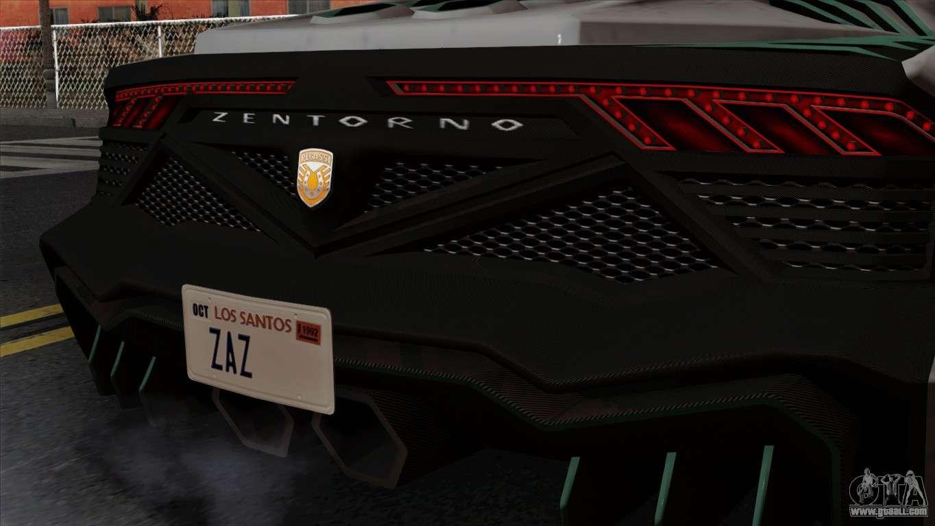 GTA 5 Pegassi Zentorno SA Style for GTA San Andreas