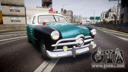 Ford Custom Deluxe Fordor 1949 New York Police for GTA 4