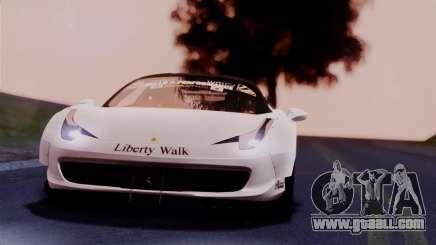 Ferrari 458 Italy Liberty Walk LB Performance for GTA San Andreas