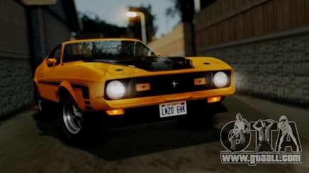 Ford Mustang Mach 1 429 Cobra Jet 1971 HQLM for GTA San Andreas