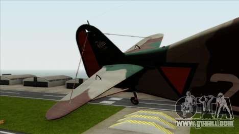 Fokker D.XXI for GTA San Andreas back left view