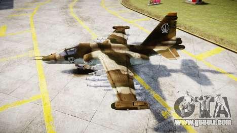 The su-39 for GTA 4 left view