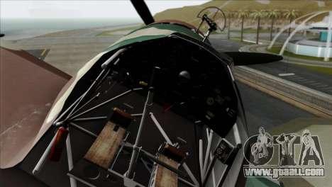 Fokker D.XXI for GTA San Andreas right view