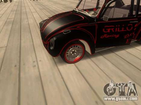 Volkswagen Super Beetle Grillos Racing v1 for GTA San Andreas back view