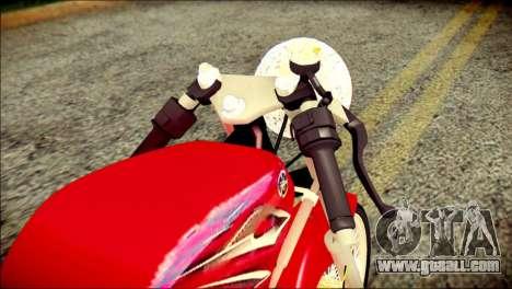 Yamaha Scorpio Z for GTA San Andreas back view
