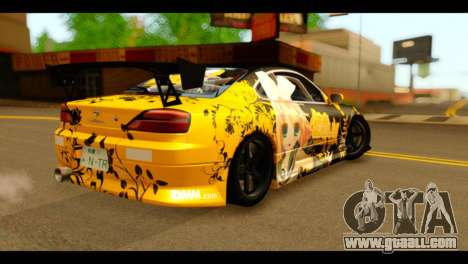 Nissan Silvia S15 Kagamine Rin Itasha for GTA San Andreas left view