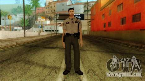 Depurty Alex Shepherd Skin without Flashlight for GTA San Andreas