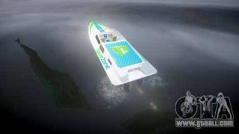 Motor boat for GTA 4 back left view