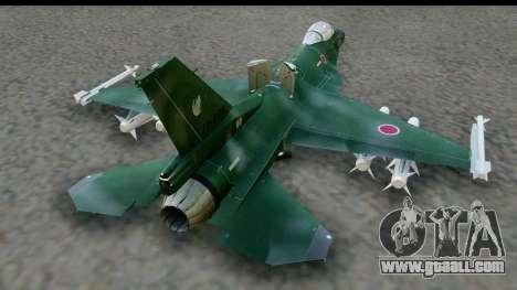 F-2A Zero Dark Green for GTA San Andreas right view