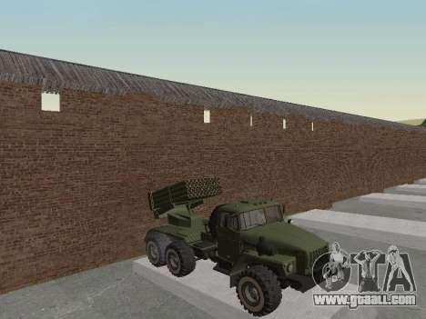 Ural 375 Grad MLRS for GTA San Andreas