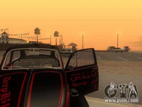 Volkswagen Super Beetle Grillos Racing v1 for GTA San Andreas upper view