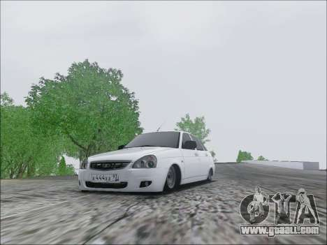 Lada Priora Hatchback for GTA San Andreas left view