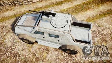 GTA V HVY Insurgent Pick-Up for GTA 4 right view