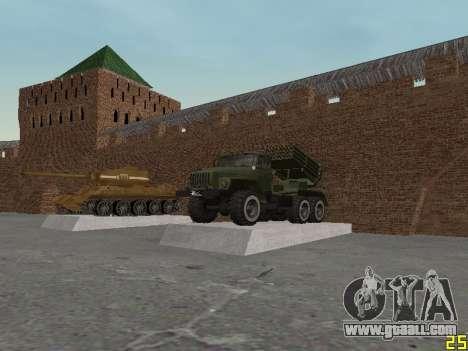 Ural 375 Grad MLRS for GTA San Andreas inner view