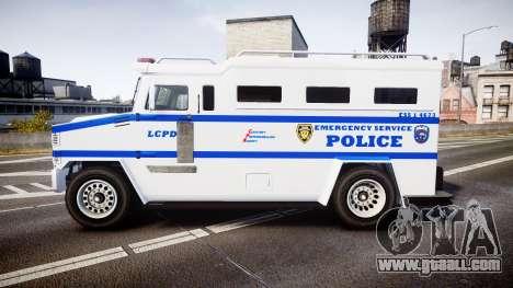 GTA V Brute Police Riot [ELS] skin 4 for GTA 4 left view