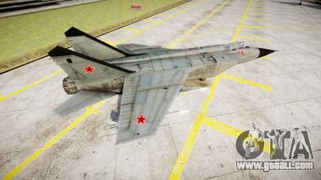 The MiG-25 for GTA 4 left view