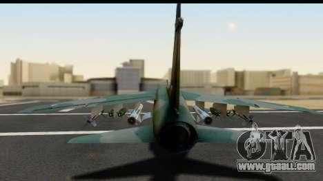 Ling-Temco-Vought A-7 Corsair 2 Belkan Air Force for GTA San Andreas back view