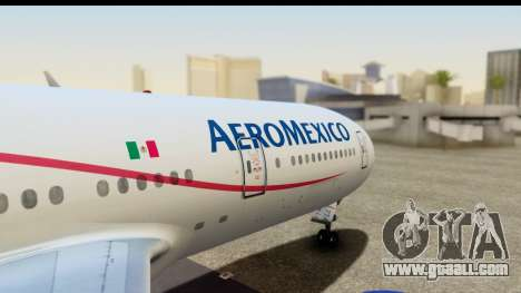 Boeing 777-200ER AeroMexico for GTA San Andreas right view