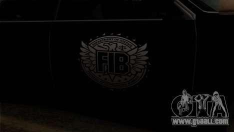 Sultan FIB for GTA San Andreas back view