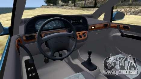 Daewoo Tacuma (Rezzo) CDX 2001 for GTA 4 inner view