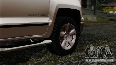 Chevrolet Silverado 2014 LTZ for GTA San Andreas back left view