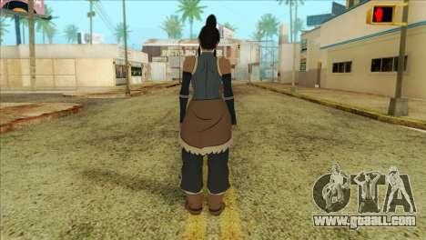 Korra Skin from The Legend Of Korra for GTA San Andreas second screenshot
