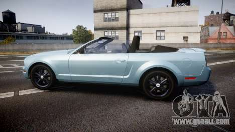Ford Mustang Convertible Mk.V 2008 for GTA 4 left view