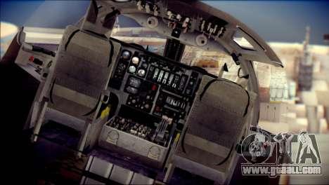 B-1B Lancer Camo Texture for GTA San Andreas back view