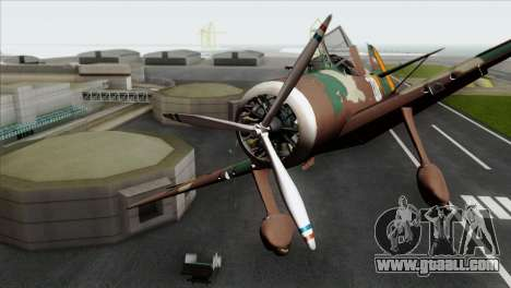 Fokker D.XXI for GTA San Andreas back view