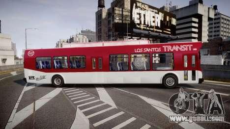 GTA V Brute Bus for GTA 4 left view