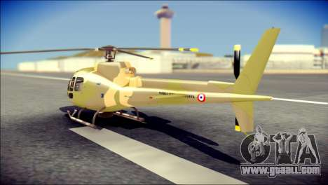 Esquilo 350 Fuerza Aerea Paraguaya for GTA San Andreas left view