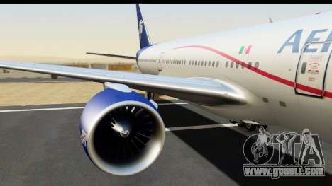 Boeing 777-200ER AeroMexico for GTA San Andreas back view