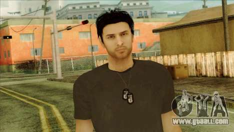 Young Alex Shepherd Skin without Flashlight for GTA San Andreas third screenshot