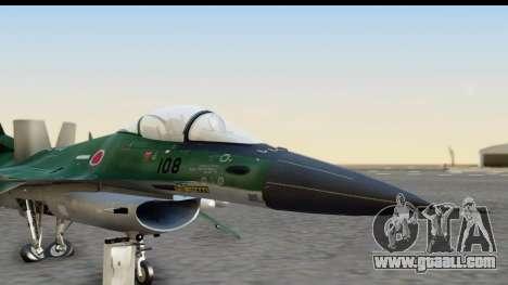 F-2A Zero Dark Green for GTA San Andreas back left view
