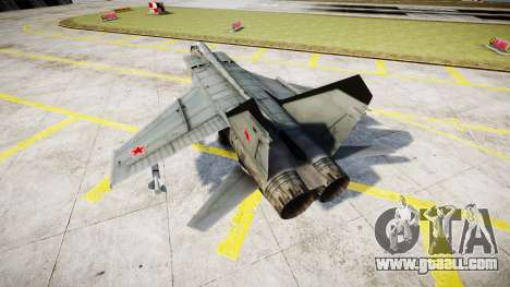 The MiG-25 for GTA 4 back left view