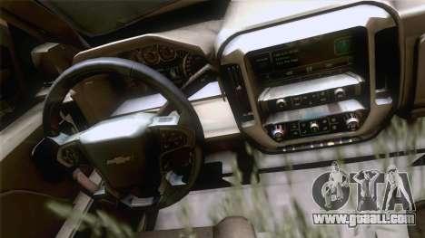 Chevrolet Silverado 2014 Work for GTA San Andreas back left view