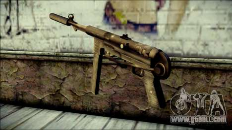 Silenced MP40 from Call of Duty World at War for GTA San Andreas second screenshot