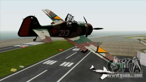 Fokker D.XXI for GTA San Andreas left view