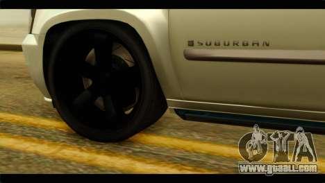 Chevrolet Suburban 2010 NFS for GTA San Andreas back left view