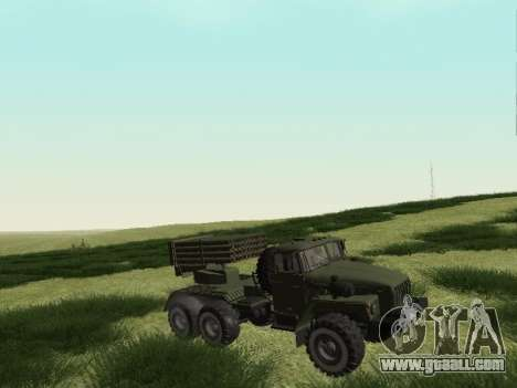Ural 375 Grad MLRS for GTA San Andreas left view