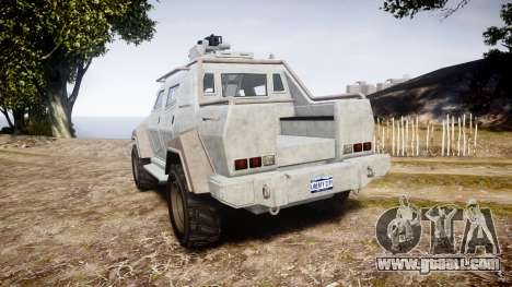 GTA V HVY Insurgent Pick-Up for GTA 4 back left view