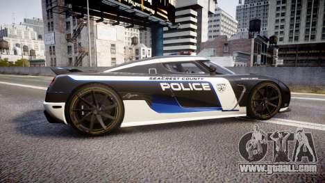 Koenigsegg Agera 2013 Police [EPM] v1.1 PJ3 for GTA 4 left view