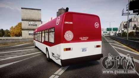 GTA V Brute Bus for GTA 4 back left view