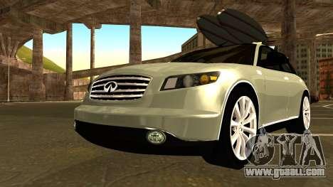 Infiniti FX 45 2007 for GTA San Andreas inner view
