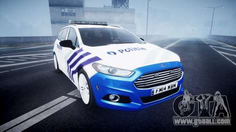 Ford Fusion Estate 2014 Belgian Police [ELS] for GTA 4