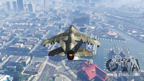 GTA 5 Hydra green camouflage third screenshot